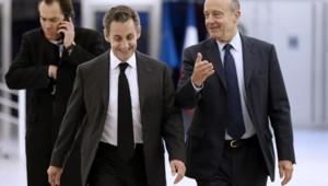 Nicolas Sarkozy et Alain Juppé, le mercredi 3 décemebre 2014.