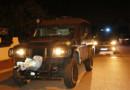 Un véhicule du Raid quittant les lieux de l'attaque après l'assaut (Magnanville, Yvelines, 14/06/2016).