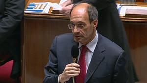Eric Woerth devant le Parlement lors du vote définitif de la réforme des retraites le 27 octobre 2010