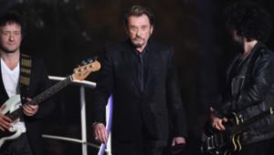 Johnny Hallyday au 28ème Téléthon le 6 décembre 2014 à Paris.