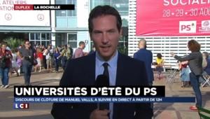 """""""Macron démission"""", le PS divisé pour la clôture de l'université d'été"""