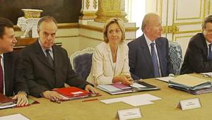 table ministre conseil des ministres matignon pécresse Mitterrand