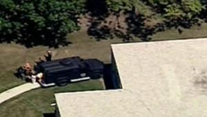 Lieu de la fusillade à Oak Creek, dans le Wisconsin, dimanche 5 août 2012