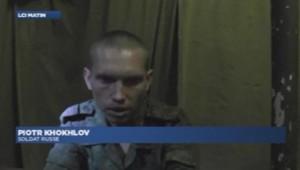 Soldat russe capturé à Donetsk