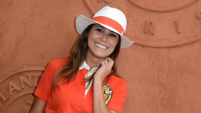 Karine Ferri à Roland Garros le 27 mai 2014.