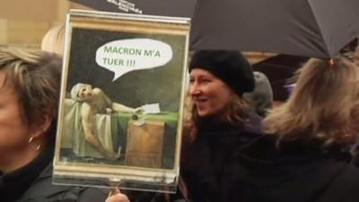 Manifestation des guides-conférenciers contre la loi Macron, 17/12/14
