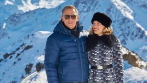 Daniel Craig et Léa Seydoux sur le tournage de Spectre.