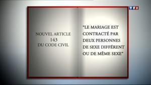 Le 20 heures du 23 avril 2013 : Mariage gay : ce que pr�it le texte vot� 646.0399999999998