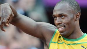 Usain Bolt avant le départ de la demi-finale du 100 m aux JO de Londres, le 5 août 2012.