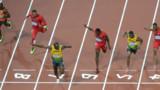 Le Jamaïcain Usain Bolt champion olympique du 100 m