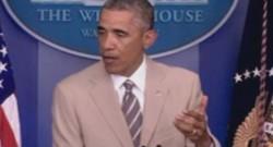 Le costume d'Obama a récolté beaucoup de critiques sur Twitter.