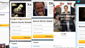 Montage fait avec les comptes Twitter des UMP Thierry Mariani, Xavier Schallebaum, Olivier Ubéda, Emery Doligé et Valérie Rosso-Debord (19 novembre 2012)