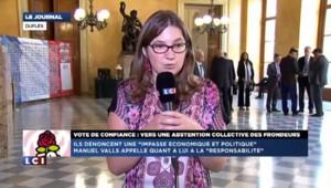 """Vote de confiance : """"une position de conviction"""" pour les """"frondeurs"""" du PS qui s'abstiendront"""