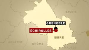 Carte d'Echirolles, dans l'Isère