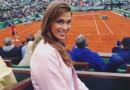 Iris Mittenaere à Roland Garros.