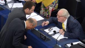 Jean-Marie Le Pen Florian Philippot FN Parlement européen