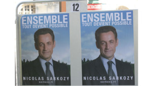 TF1/LCI L'affiche officielle de campagne de Nicolas Sarkozy