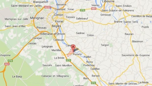 Carte de localisation de Beautiran