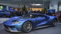 Ford GT 2016, nouvelle génération du supercar à moteur V6 de plus de 600 chevaux révélé au Salon de Detroit en janvier 2015