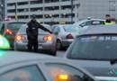 Grève nationale des taxis en France, ici à l'aéroport de Toulouse le 10 janvier 2013.