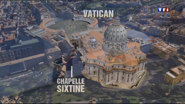 Le 20 heures du 9 mars 2013 : La chemin�du Vatican est pr� pour le conclave - 1152.761837890625