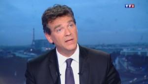 Arnaud Montebourg sur le plateau du 20H de TF1.