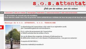 Le site de l'association SOS Attentats (archives)