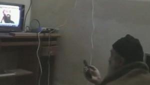 Capture d'écran d'une des vidéos de ben Laden que les Etats-Unis ont diffusées le 7 mai 2011 saisies chez lui après le raid du commando américain au Pakistan