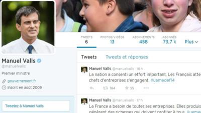 Compte Twitter de Manuel Valls, 28/8/14