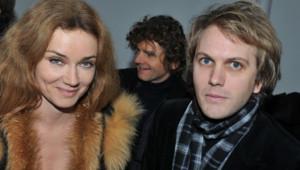 Marine Delterme et Florian Zeller lors de la Fashion Week à Paris en janvier 2011.