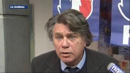 Gilbert Collard, lors d'un déjeuner avec Jean-Marie Le Pen à Nîmes, le 15 janvier 2012.