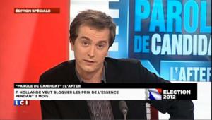 Hollande dans Parole de candidat vue de Twitter