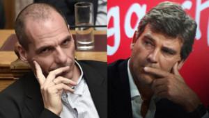 Yanis Varoufakis et Arnaud Montebourg.