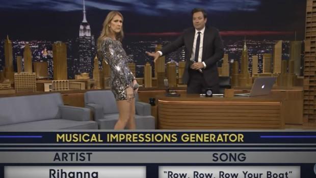 Céline Dion imite Rihanna dans le Tonight Show.