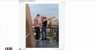 Il la demande en mariage sur la Tour Eiffel, un témoin s'en remet à la Toile pour les retrouver
