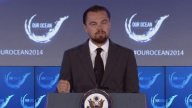Léonardo Dicaprio à la conférence sur les océans