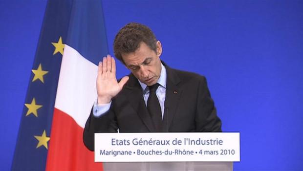 Nicolas Sarkozy à Marignane le 4 mars 2010