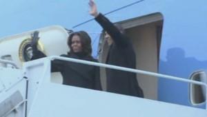 Barack et Michelle Obama en route pour l'Afrique du Sud