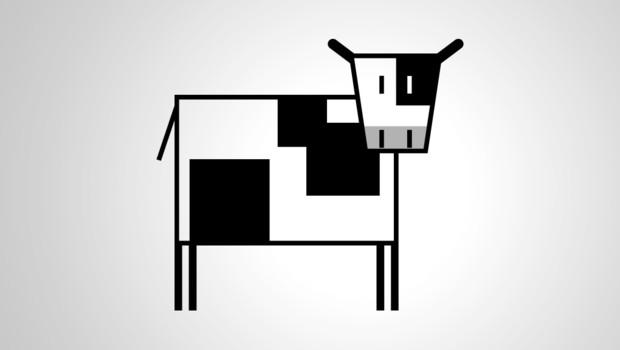 vache dessin bio agriculture élevage boeuf veau