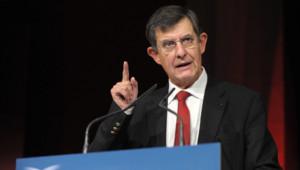 Jean-Pierre Jouyet lors d'une Conférence de l'AMF le 24 novembre 2011.