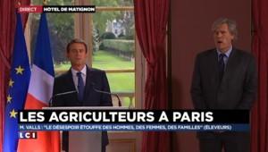 """Manuel Valls : """"La France ne lâchera pas ses agriculteurs"""""""