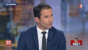 Benoît Hamon sur France 2, le 25 août 2014.