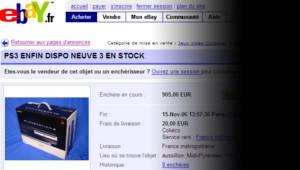 La Playstation3, sur eBay au lendemain de sa sortie