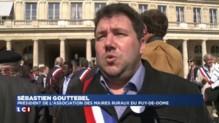Réforme territoriale : les maires ruraux protestent devant le Conseil constitutionnel