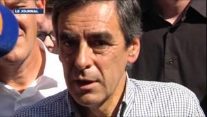 François Fillon au campus des jeunes UMP au Touquet (Pas-de-Calais) le 8 septembre 2012.
