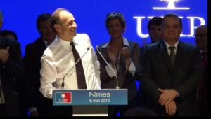 Jean-François Copé en meeting à Nîmes le 6 mai 2013
