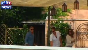 Avant son mariage, George Clooney petit-déjeune avec Cindy Crawford et son mari, le 27 septembre 2014