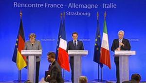 Crise de la dette: mini-sommet Sarkozy/Merkel/Monti à Strasbourg