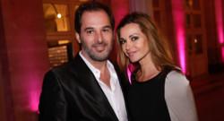Ingrid Chauvin et son mari Thierry Peythieu lors des Trophées du film français en février 2014 à Paris