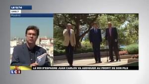 L'Espagne prise par surprise par l'abdication de Juan Carlos